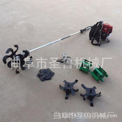 小型茶园松土除草机 背负式汽油开沟机 圣鲁多功能微耕机图片