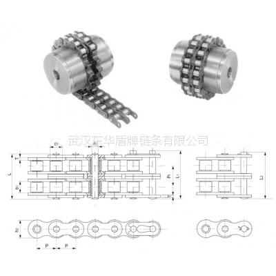 华中地区链条批发联轴器链工业链条8018 8020 8022 16A滚子链条