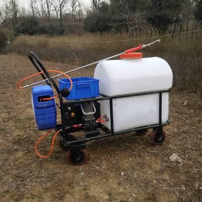 热销大棚专用打药机卷管式喷雾器105L推车式杀虫喷洒机