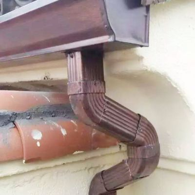 保定别墅K型铝合金雨水槽加大加厚