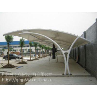 番禺市桥膜结构车棚搭建|大石钢结构雨棚安装公司