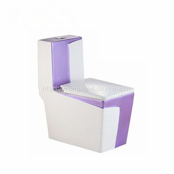 马桶正品卫浴陶瓷大四方彩色个性独特连体马桶