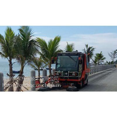 四平小型驾驶扫地机 柴油动力 一键吸扫 无扬尘
