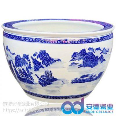 陶瓷鱼缸 陶瓷缸批发 景德镇陶瓷缸生产厂家 陶瓷大水缸 陶瓷大缸图片