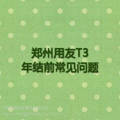 郑州用友T3年结前常见问题_财务管理软件