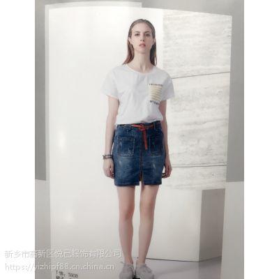 艾沸17夏装莆田杭州库存服装处理棉麻女装批发多种面料多色供选T恤