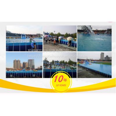特价大型支架水池 充气游泳池生产工厂 移动水上乐园设备水上滑梯