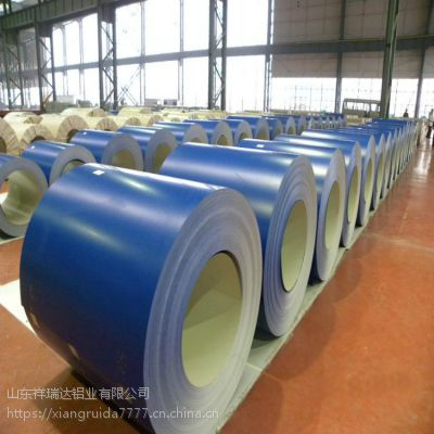 工厂定做3004铝镁锰合金彩涂铝卷 0.8mm厚的铝镁锰合金彩涂铝卷
