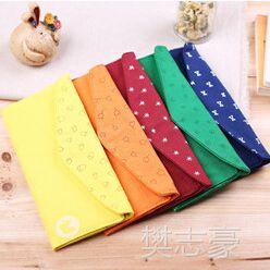 韩版和风长款帆布钱包 糖果多色帆布钱包 6卡位女式帆布零钱包