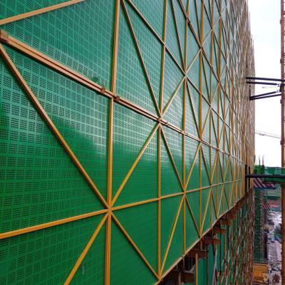 寿光爬架网厂家 工地钢制外架网 碧桂园爬架网价格