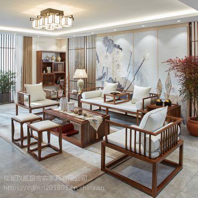 成都中式茶楼家具 成都仿古新中式家具