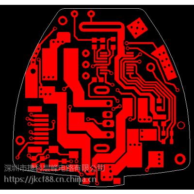 PCB保护板定制加工厂家,绿油白字镀金工艺