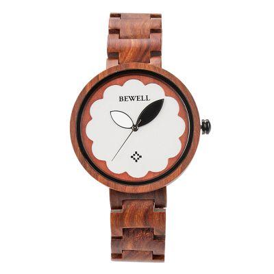 BEWELL时尚简约女款木质手表女款石英手表定制