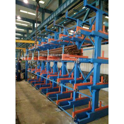 新型放管材的悬臂式货架 天车起吊钢管 存取方便安全 悬臂伸缩 管材货架