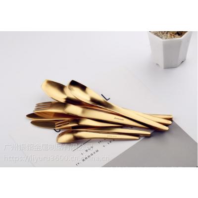 银貂 新品 艾维思 304 锻打不锈钢刀叉勺 高级酒店餐用刀叉勺