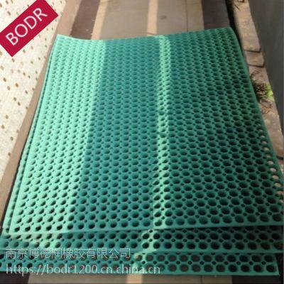 专业制造 带孔防滑漏水垫 厨房防滑垫 绿色耐油耐压橡胶垫 丁腈橡胶板