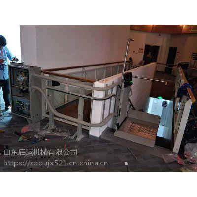 斜挂式楼梯运行无障碍平台 智能曲线升降机 启运厂家 住宅楼升降电梯 濮阳市销售