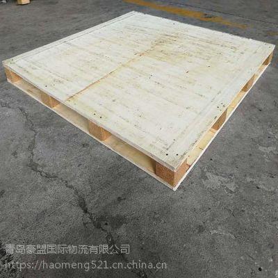 青岛胶合板木托盘厂家批发供应出口1.0m单面托盘