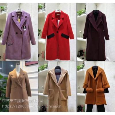 便宜女装毛呢外套冬季女士呢子大衣双面尼清货厂家直批亏本清仓