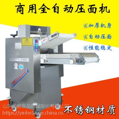 银鹤全自动压面机是面食加工的主要设备之一主要用于揉压各种酥韧性面团各种面皮等招空白地区代理商