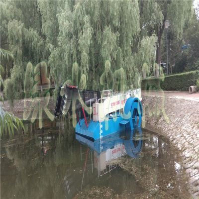广州乡镇河道水花生打捞机械,湖面水浮莲清理设备,水库水面垃圾保洁船