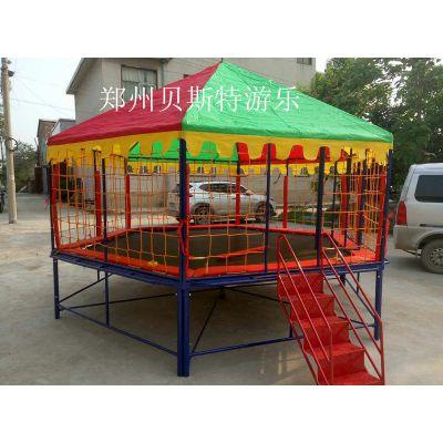 黑龙江伊春儿童六边形钢架蹦床厂家定做出售