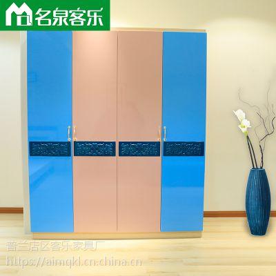 大连板式家具3201-16简约四门衣柜工厂直销