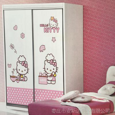 工厂直销欧式简约衣柜门定制卧室推拉移门木塑吸塑室内衣柜门定做