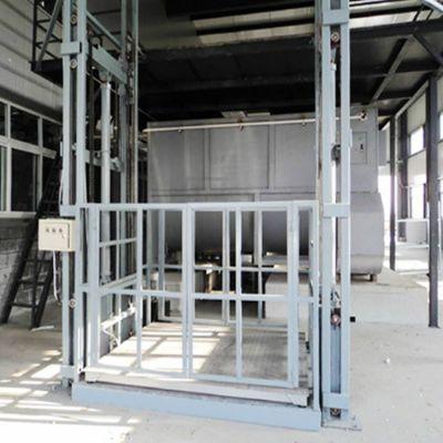 山东济南升降机厂家SJD2-8导轨式货梯电动液压升降机金创导轨升降机车间运送货物梯