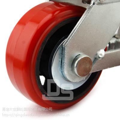 大世脚轮 耐磨2.5寸pu脚轮 型号全 小型设备用轮 结实耐用