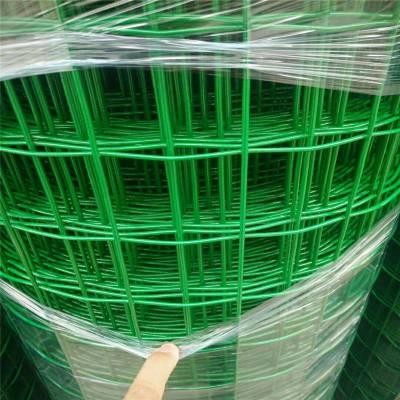 庆阳30米长成卷浸塑荷兰网厂家-1.5-2米宽圈地铁丝网-3mm丝绿色荷兰网加工定制