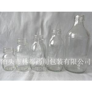 河北林都供应500ml透明口服液玻璃瓶