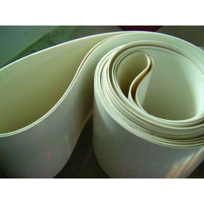 白色食品硅胶输送带 耐粘连耐油硅胶输送带 助卷机输送带 静电除尘机输送带