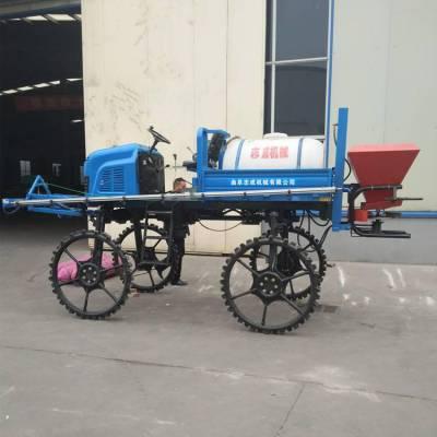 大型液压喷杆式施肥机 两用轮胎四轮转向打药机 旱田水田打药机