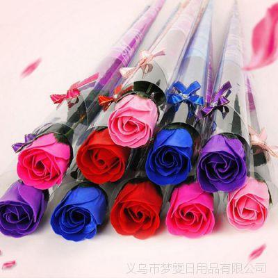 批发仿真花单支玫瑰香皂花创意肥皂花实用情人节礼品玫瑰香皂花