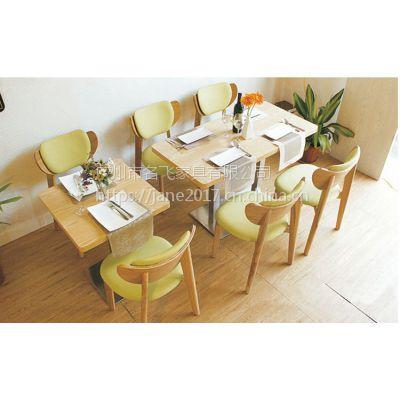 乌海市餐厅桌椅,欧式西餐厅甜品店一桌四椅家具定制厂家