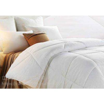 红金顶酒店床上用品纯棉春秋酒店被芯价格