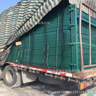 源海厂家直销框架护栏 防抛网市政园林防护网 车间隔离护栏