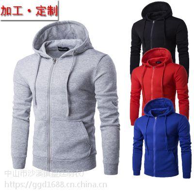 秋冬装新款长袖外套男士套头卫衣加厚休闲男士全棉棒球服厂家定制