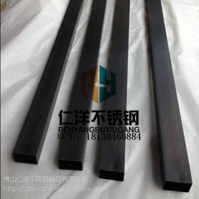 佛山供应青古铜不锈钢圆管 拉丝古铜色 201-304彩色方管 无指纹