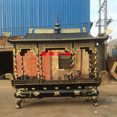 供应铸铁长方形八龙柱寺庙道院大型户外香炉生铁香炉价格