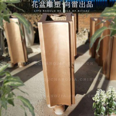 落地式花盆花器 室内外酒店商场展厅等异形创意玻璃钢花盆 批发