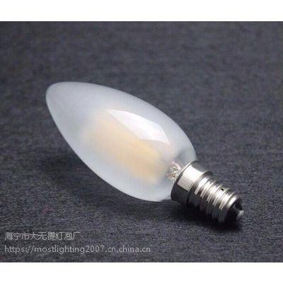 LED灯丝灯 磨砂玻璃泡壳 C35 E14 4W 可控硅调光 2700K