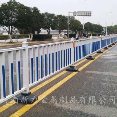 郑州开封洛阳地区定制 热镀锌钢材围栏护栏 锌钢道路护栏 市政隔离栏 河南新力