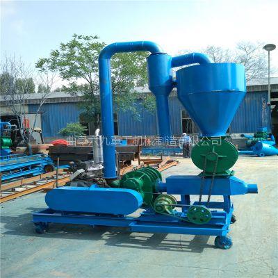 农场粮食装车气力输送机 六九柴油机软管气力吸粮机