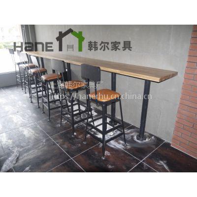上海韩尔家具厂定制星巴克金属吧椅 铁艺吧凳定制