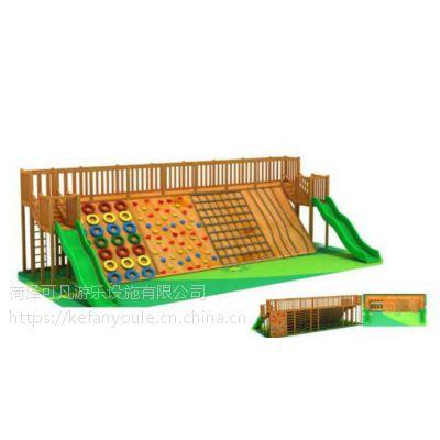 幼儿园木制小型攀爬架攀爬墙组合进口木质体能训练木质秋千爬网