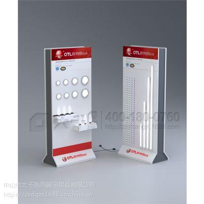新品展示柜LED灯饰木烤漆白色组合展示柜 欧特朗专卖店中岛柜