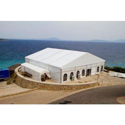 广州哪里有欧式帐篷出租 卡帕篷房提供白色户外活动大棚,PVC涂层布帐篷租赁安装免费