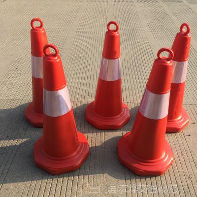 厂家供应塑料提环圆锥 路障 反光锥 雪糕筒 锥形桶安全锥交通设施